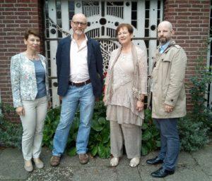 v. l. n. r. Susanne Rüller, Heinz Waldorf, Christina Müggenburg, Daniel Klose