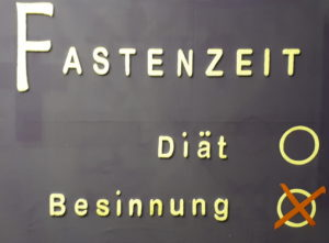 Unser Schaukasten Ahrensburg Fastenzeit