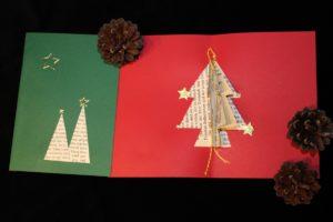 Weihnachtskarte Nr 1 grün oder rot