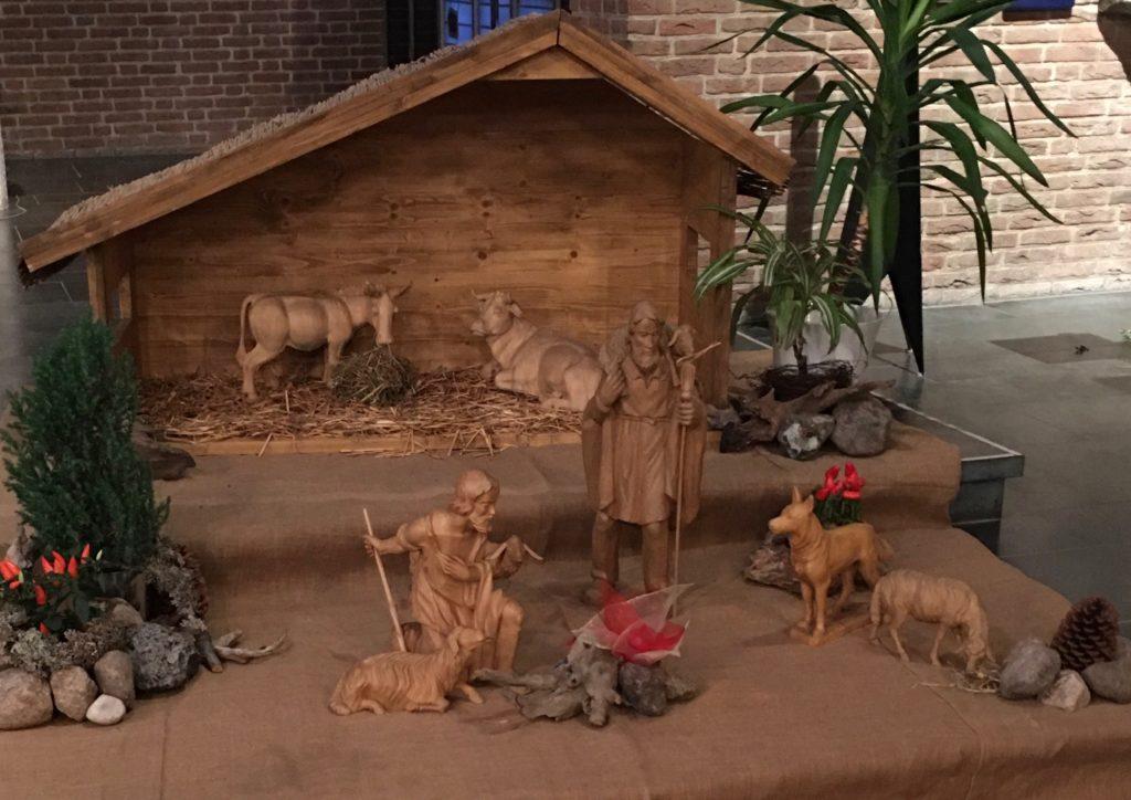 Krippe von St. Vicelin im Advent 2020