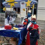 Stand auf dem Markt in Bad Oldesloe